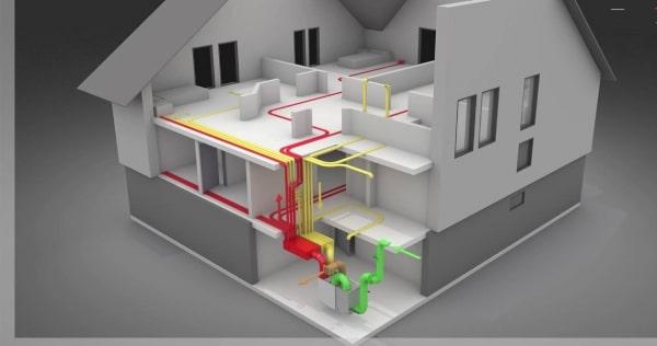 hővisszanyerős szellőztető rendszer kiépítése